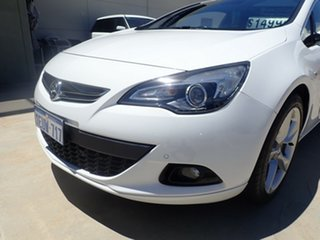 2015 Holden Astra PJ MY16 GTC Sport White Satin 6 Speed Manual Hatchback.