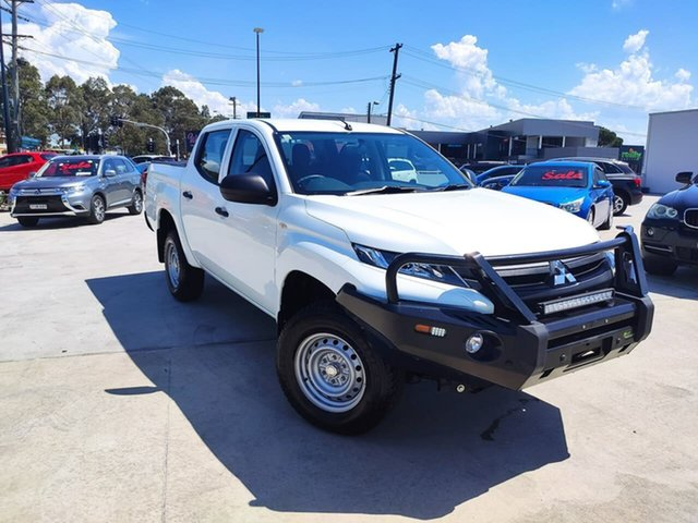 Used Mitsubishi Triton MQ MY18 GLX Double Cab Liverpool, 2018 Mitsubishi Triton MQ MY18 GLX Double Cab White 6 Speed Manual Utility