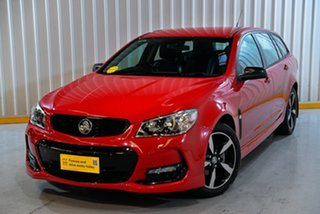 2016 Holden Commodore Vfii MY16 SV6 Black 20Inch Edition Red/Black 6 Speed Automatic Sportswagon.
