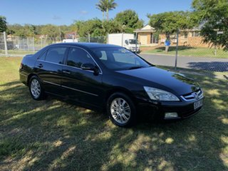 2006 Honda Accord 7th Gen V6 Luxury Black 5 Speed Automatic Sedan.