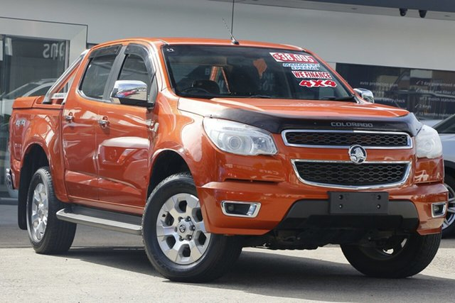 Used Holden Colorado RG MY14 LTZ Crew Cab Homebush, 2014 Holden Colorado RG MY14 LTZ Crew Cab Orange 6 Speed Sports Automatic Utility