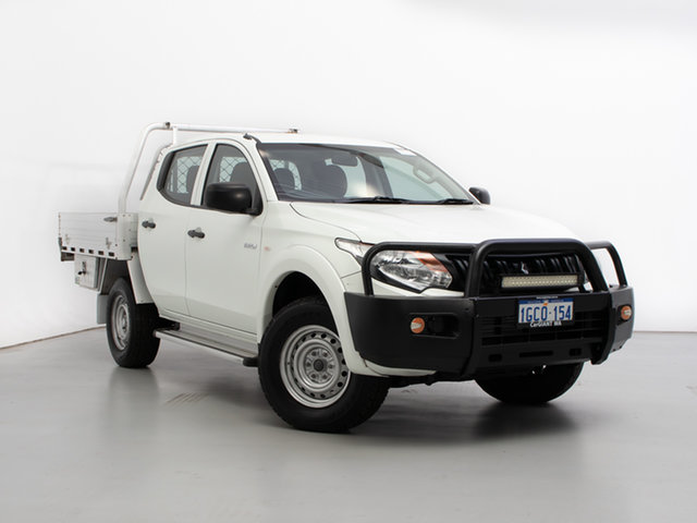 Used Mitsubishi Triton MQ MY16 Upgrade GLX (4x4), 2016 Mitsubishi Triton MQ MY16 Upgrade GLX (4x4) White 5 Speed Automatic Dual Cab Chassis