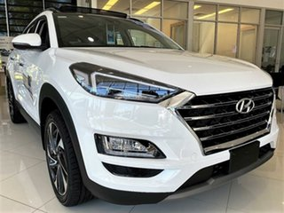2020 Hyundai Tucson TL3 MY21 Highlander D-CT AWD Pure White 7 Speed Sports Automatic Dual Clutch.