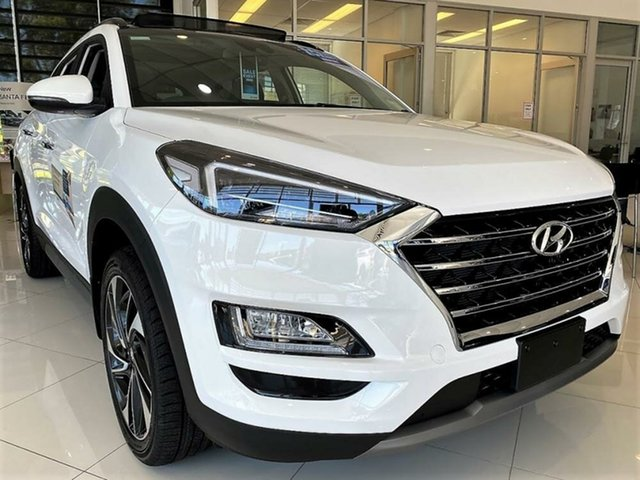 New Hyundai Tucson TL3 MY21 Highlander D-CT AWD Mount Gravatt, 2020 Hyundai Tucson TL3 MY21 Highlander D-CT AWD Pure White 7 Speed Sports Automatic Dual Clutch