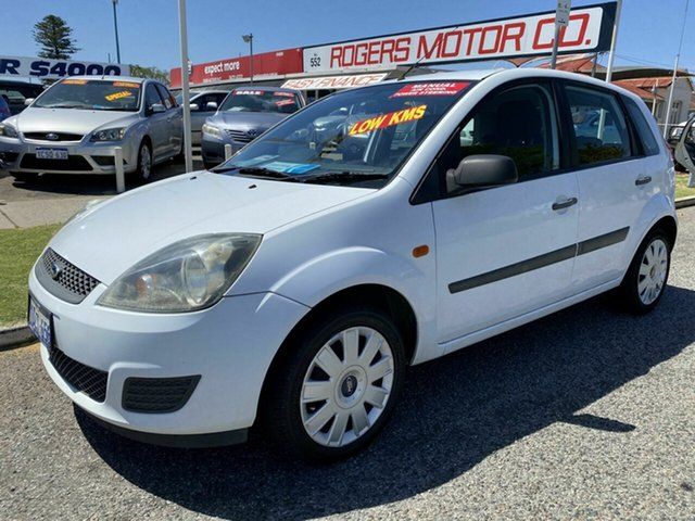 Used Ford Fiesta WQ LX Victoria Park, 2008 Ford Fiesta WQ LX White 5 Speed Manual Hatchback