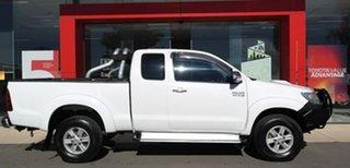 2012 Toyota Hilux KUN26R MY12 SR5 Xtra Cab White 5 Speed Manual Utility.