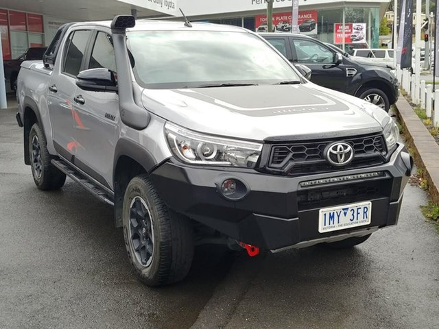 Pre-Owned Toyota Hilux GUN126R Rugged X Double Cab Ferntree Gully, 2018 Toyota Hilux GUN126R Rugged X Double Cab Silver 6 Speed Sports Automatic Utility