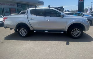 2015 Mitsubishi Triton MQ MY16 GLS Double Cab Silver 5 Speed Sports Automatic Utility