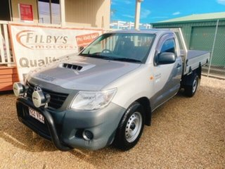 2014 Toyota Hilux KUN16R MY14 SR 4x2 Silver 5 Speed Manual Cab Chassis.