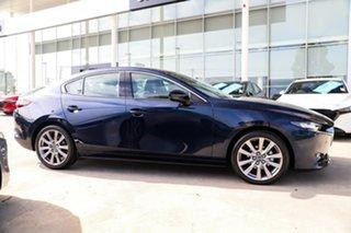 2019 Mazda 3 BP2S7A G20 SKYACTIV-Drive Touring Dark Blue 6 Speed Sports Automatic Sedan.