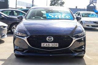 2019 Mazda 3 BP2S7A G20 SKYACTIV-Drive Touring Dark Blue 6 Speed Sports Automatic Sedan