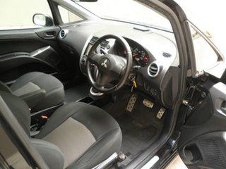 2009 Mitsubishi Colt RG MY09 VR-X Black Quartz 1 Speed Constant Variable Hatchback