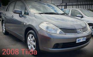 2008 Nissan Tiida C11 MY07 ST-L Plus Grey 6 Speed Manual Sedan.