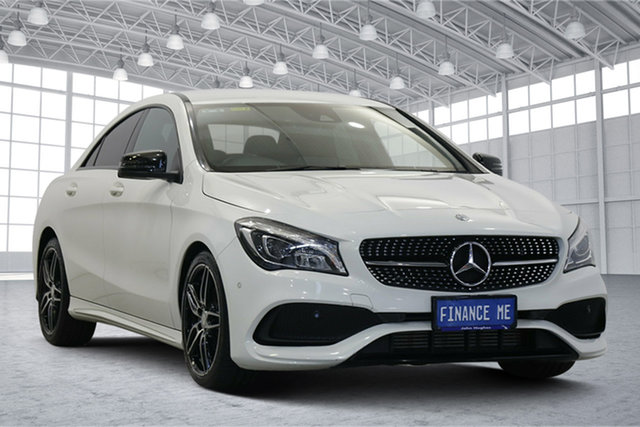 Used Mercedes-Benz CLA-Class C117 808MY CLA200 DCT Victoria Park, 2017 Mercedes-Benz CLA-Class C117 808MY CLA200 DCT White 7 Speed Sports Automatic Dual Clutch Coupe