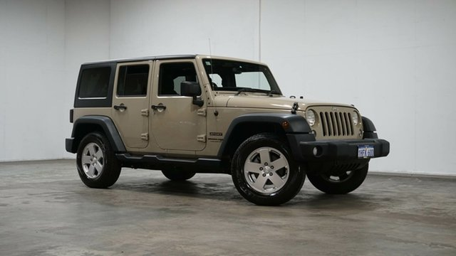 Used Jeep Wrangler JK MY18 Unlimited Sport Welshpool, 2018 Jeep Wrangler JK MY18 Unlimited Sport Cream 5 Speed Automatic Softtop