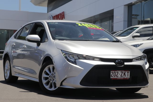 Pre-Owned Toyota Corolla Mzea12R Ascent Sport Woolloongabba, 2019 Toyota Corolla Mzea12R Ascent Sport Premium Silver 10 Speed Constant Variable Sedan