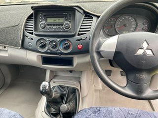 2010 Mitsubishi Triton MN MY11 GLX Club Cab White 5 Speed Manual Utility