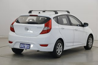 2012 Hyundai Accent RB Active White 5 Speed Manual Hatchback