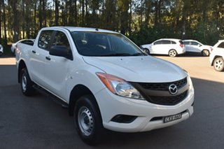 2015 Mazda BT-50 UP0YF1 XT 4x2 Hi-Rider White 6 Speed Manual Utility.