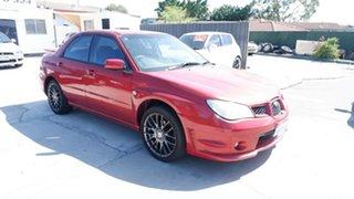 2007 Subaru Impreza S MY07 R AWD Red 4 Speed Automatic Sedan.