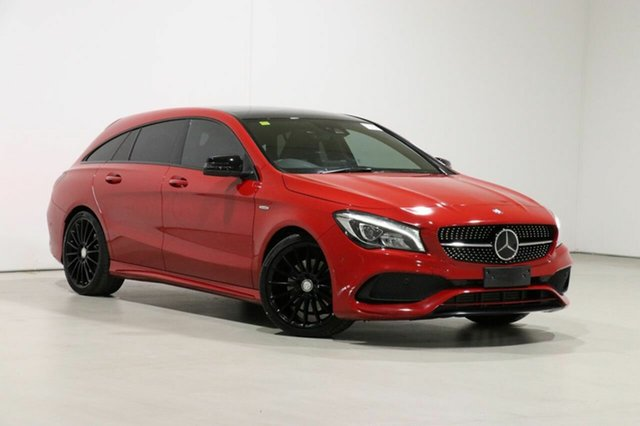 Used Mercedes-Benz CLA250 Shooting Brake 117 MY17 4Matic Bentley, 2017 Mercedes-Benz CLA250 Shooting Brake 117 MY17 4Matic Jupiter Red 7 Speed Auto Dual Clutch Wagon