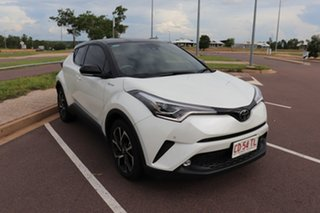 2019 Toyota C-HR NGX10R Koba S-CVT 2WD Crystal Pearl & Black Roof 7 Speed Automatic Wagon.