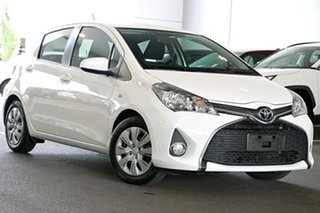 2016 Toyota Yaris NCP131R SX White 4 Speed Automatic Hatchback