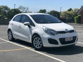 2014 Kia Rio UB MY14 S White 4 Speed Sports Automatic Hatchback.