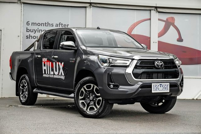 Pre-Owned Toyota Hilux GUN126R SR5 Double Cab Ferntree Gully, 2020 Toyota Hilux GUN126R SR5 Double Cab Graphite 6 Speed Sports Automatic Utility