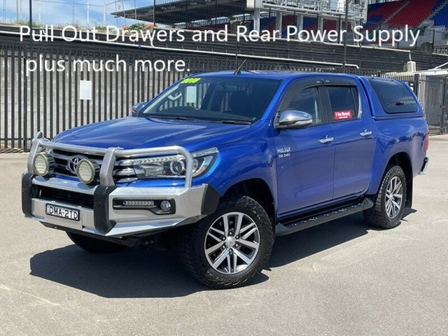 Used Toyota Hilux GUN126R SR5 Double Cab Newcastle, 2016 Toyota Hilux GUN126R SR5 Double Cab Blue 6 Speed Sports Automatic Utility