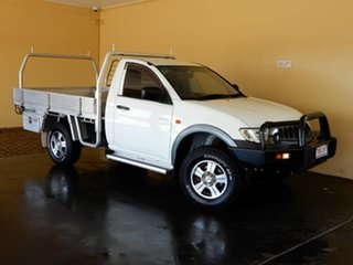 2008 Mitsubishi Triton ML MY08 GLX White 4 Speed Automatic Cab Chassis