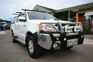 2007 Toyota Hilux KUN26R 06 Upgrade SR5 (4x4) White 4 Speed Automatic Dual Cab Pick-up.