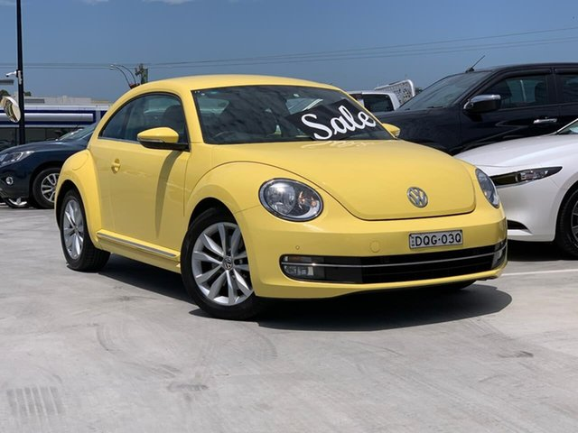 Used Volkswagen Beetle 1L MY13 Coupe DSG Liverpool, 2013 Volkswagen Beetle 1L MY13 Coupe DSG Yellow 7 Speed Sports Automatic Dual Clutch Liftback