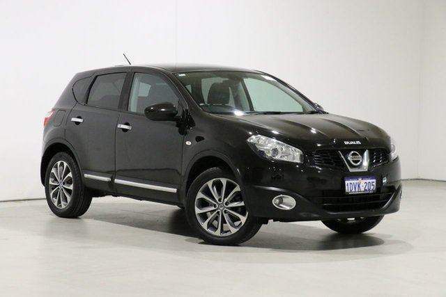 Used Nissan Dualis J10 Series II TI (4x2) Bentley, 2012 Nissan Dualis J10 Series II TI (4x2) Black 6 Speed CVT Auto Sequential Wagon