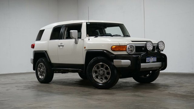 Used Toyota FJ Cruiser GSJ15R Welshpool, 2013 Toyota FJ Cruiser GSJ15R White 5 Speed Automatic Wagon
