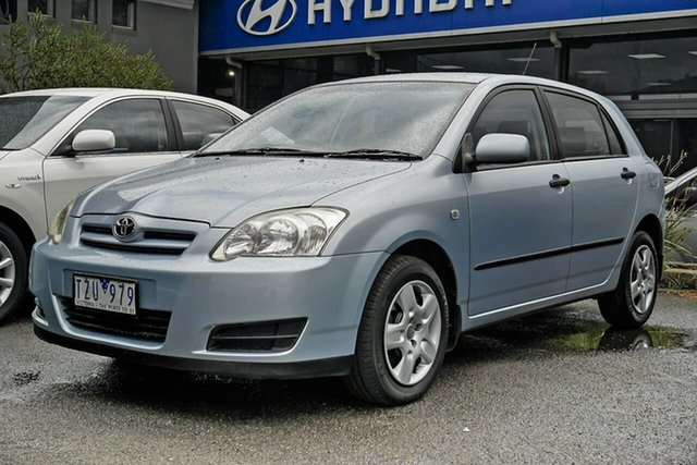 Used Toyota Corolla ZZE122R 5Y Ascent Nunawading, 2005 Toyota Corolla ZZE122R 5Y Ascent Blue 4 Speed Automatic Hatchback
