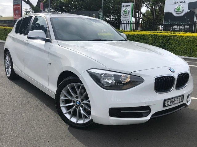 Used BMW 1 Series F20 MY0713 116i Steptronic Botany, 2014 BMW 1 Series F20 MY0713 116i Steptronic White 8 Speed Sports Automatic Hatchback