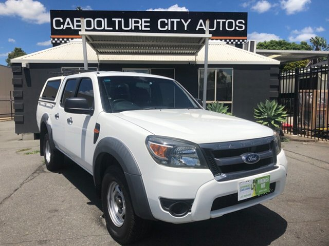 Used Ford Ranger PK XL (4x2) Morayfield, 2010 Ford Ranger PK XL (4x2) White 5 Speed Automatic Dual Cab Pick-up