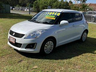 2014 Suzuki Swift FZ MY14 GL Navigator White 5 Speed Manual Hatchback.