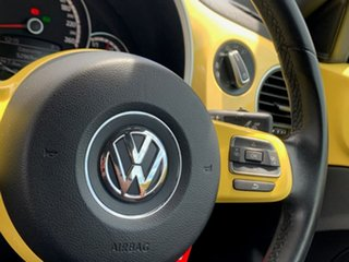 2013 Volkswagen Beetle 1L MY13 Coupe DSG Yellow 7 Speed Sports Automatic Dual Clutch Liftback
