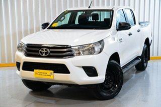 2018 Toyota Hilux GUN126R SR Double Cab White 6 Speed Sports Automatic Utility.