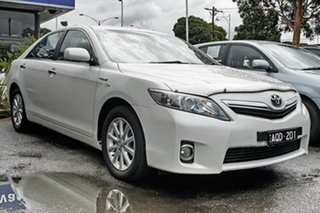 2010 Toyota Camry AHV40R MY10 Hybrid White 1 Speed Constant Variable Sedan Hybrid.