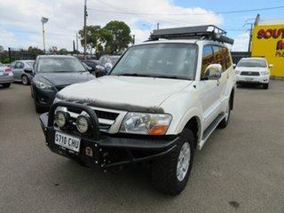2003 Mitsubishi Pajero NP Exceed LWB (4x4) Silver 5 Speed Auto Sports Mode Wagon.