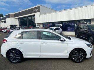 2020 Hyundai i30 PD.V4 MY21 Elite Polar White 6 Speed Automatic Hatchback.