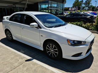 2014 Mitsubishi Lancer CJ MY14.5 ES Sport White 6 Speed Constant Variable Sedan.