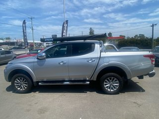 2015 Mitsubishi Triton MQ MY16 GLS Double Cab Silver 5 Speed Sports Automatic Utility.
