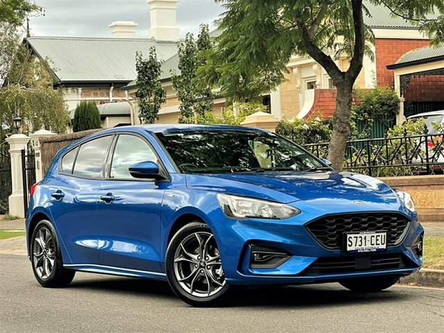 Used Ford Focus SA 2019.75MY ST-Line Hyde Park, 2019 Ford Focus SA 2019.75MY ST-Line Blue 8 Speed Automatic Hatchback