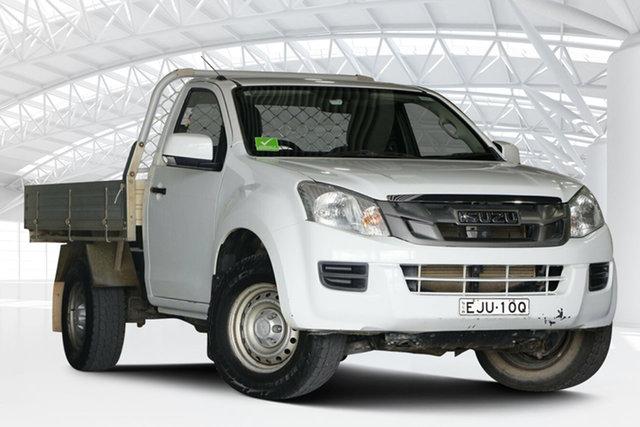 Used Isuzu D-MAX TF MY12 SX (4x4) Moorebank, 2014 Isuzu D-MAX TF MY12 SX (4x4) White 5 Speed Automatic Cab Chassis
