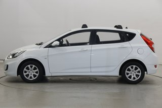 2012 Hyundai Accent RB Active White 5 Speed Manual Hatchback.