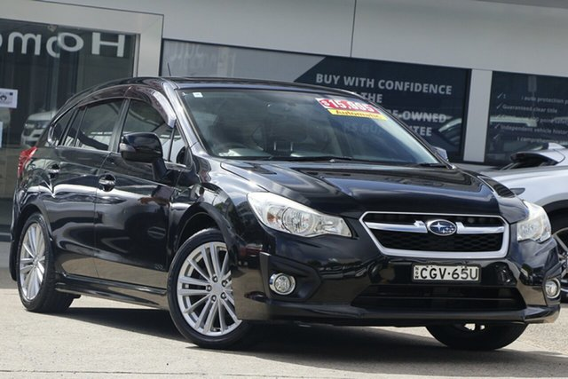 Used Subaru Impreza G4 MY13 2.0i Lineartronic AWD Homebush, 2012 Subaru Impreza G4 MY13 2.0i Lineartronic AWD Black 6 Speed Constant Variable Hatchback